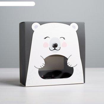 Коробка для сладостей «мишка», 13 x 13 x 5 см