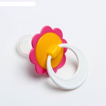 Соска пустышка волшебный цветочек, силиконовая