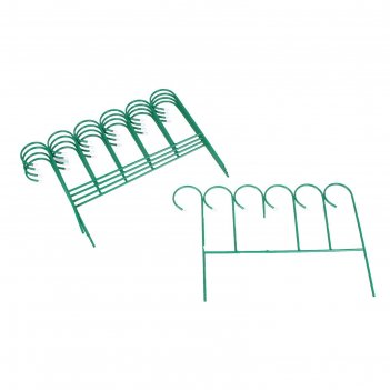 Забор металлический декоративный д-0,75 м, в-0,5 м, d-1 см (5 секций)