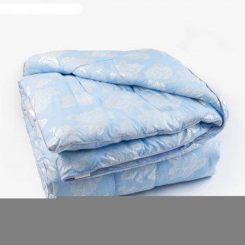 Одеяло лебяжий пух 175х205 см, 300г/м2, чехол тик пуходержащий