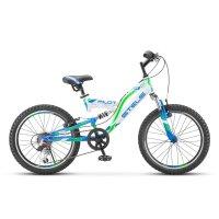 Велосипед 20 stels pilot-260, v020, цвет белый/синий, размер 13