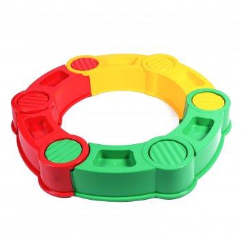 Песочница пластиковая. круг 115 х 115 х 20 см, разноцветная