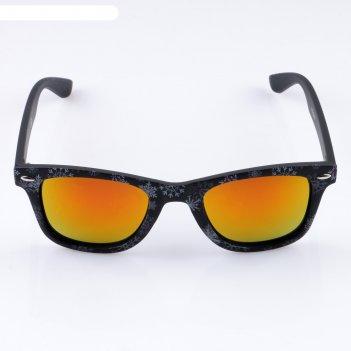 Очки солнцезащитные детские лоанго, uv 400, 15х15.5х5 см,  дужки, оранжевы