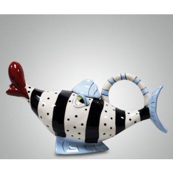 Чайник голубая рыба