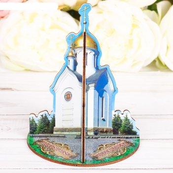 Настольный сувенир 3d «новосибирск. часовня святого николая»