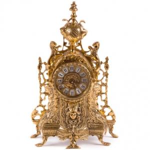 Часы каминные львы
