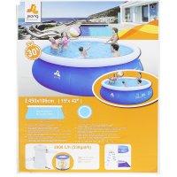 Бассейн надувной prompt set pool 450х90 см, 3070 л. (фильтр-насос 530 л/ча