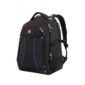 """Рюкзак swissgear, 15"""",чёрный/синий, полиэстер 900d/рипстоп, 36x19x47 см, 3"""