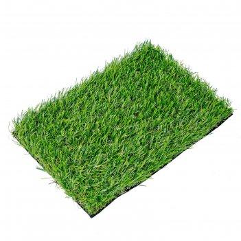 Искусственный газон, 30 мм, 4 x 5 м, двуцветный