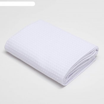 Полотенце вафельное «этель» 70х140 см, цвет белый, плотность 240 г/м2