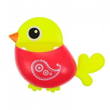 Держатель для зубных щеток на присоске птичка, цвет микс