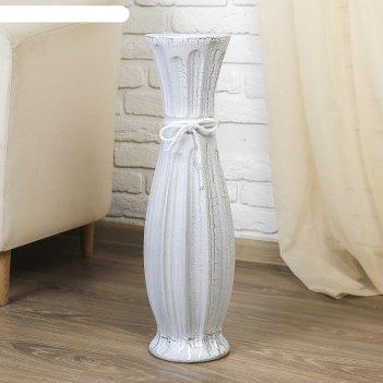 Ваза керамика напольная персиана d-12см, 60 см, круглая