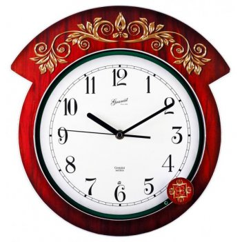 Настенные часы гранат серия gemini g 017034 granat