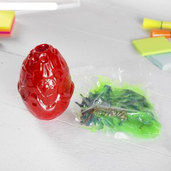 Набор слим + динозавр с крыльями - конструктор в яйце, микс