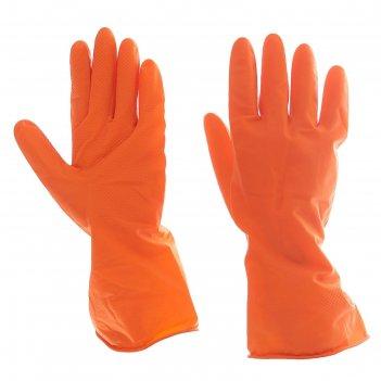Перчатки хозяйственные прочные, размер xl, цвет микс