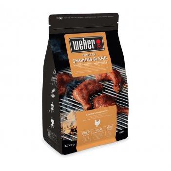 Щепа для копчения мяса weber смесь для курицы 700 г для сада