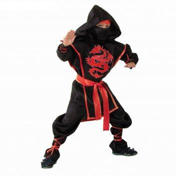 Карнавальный костюм ниндзя: красный дракон, р-р 32, рост 128 см
