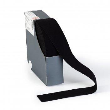 Эластичная лента-пояс 38мм*10м, цвет черный