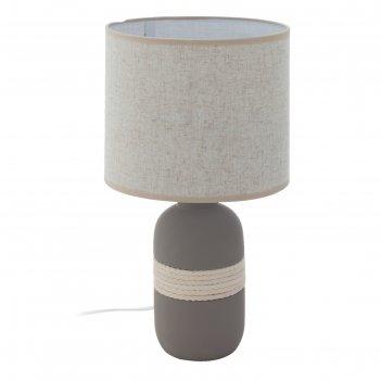 Настольная лампа sorita 60вт e27 серый