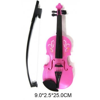 Скрипка роз., 25 см, пакет