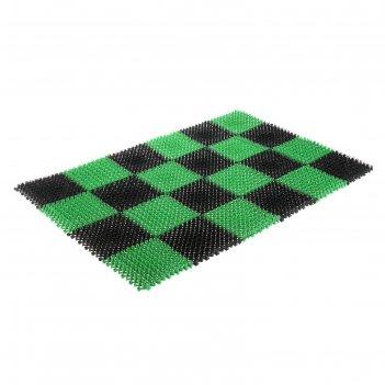 Покрытие ковровое щетинистое травка 81 х 54 см, сегмент, черно-зеленый