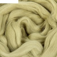 Шерсть для валяния 100% полутонкая шерсть 50 г (042, полынь)