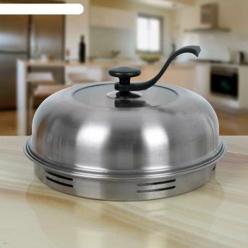 Сковорода 33 см гриль-газ, съемная ручка, стеклянная крышка