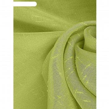 Ткань тюлевая в рулоне, ширина 280 см, однотонная, лён 78518