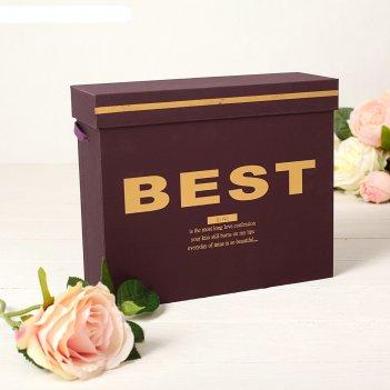 Коробка подарочная со шнурком 25 х 8,5 х 20,5 см