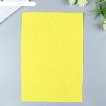 Фетр  мягкий  1 мм 20х30 см  желтый