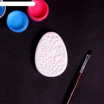 Фигурка под раскраску яйцо пасхальное большое 8х6х2см