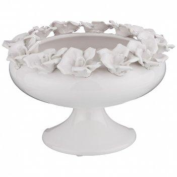 Чаша декоративная romantica диаметр=22 см. высота=14,5 см. (кор=1шт.)