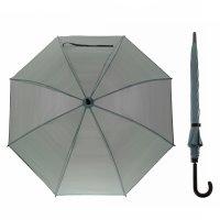 Зонт полуавтоматический «клетка мелкая», 8 спиц, r = 46 см, цвет серый