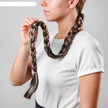 Коса на резинке мелирование, длинна 80 см
