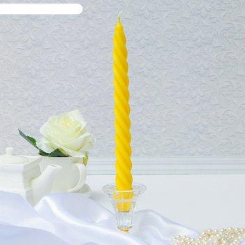 Свеча витая жёлтая
