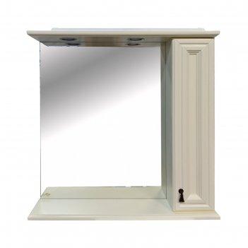 Шкаф-зеркало лувр - 85 правое, слоновая кость