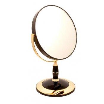 Зеркало b7 808 blk/g black&gold наст.кругл. 2-стор. 5-кр.ув.
