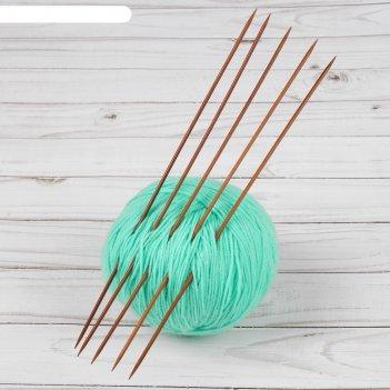 Спицы для вязания, чулочные, d = 2,5 мм, 25 см, 5 шт