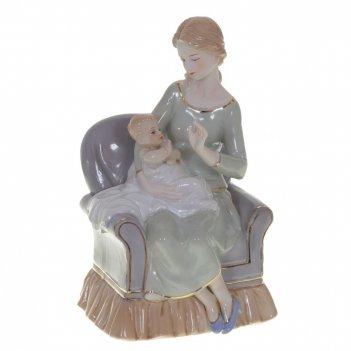 Фигурка декоративная мама с ребенком, l15 w14 h25 см