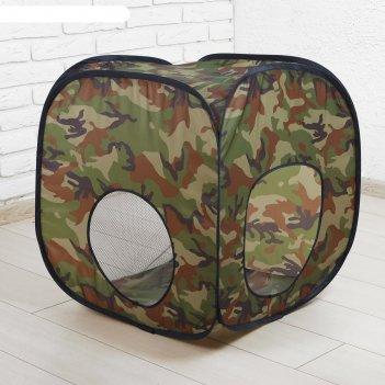 Палатка детская «домик. хаки », 60 x 60 x 60 см