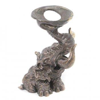 Подставка для шара слон бронза