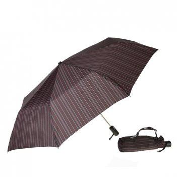Зонт 23, полный автомат (бордово-розовая полоска)