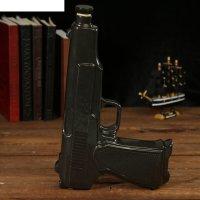 Штоф сувенирный фарфор пистолет апс 500 мл 5х20х30 см