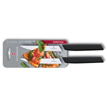 Набор из 2 ножей для стейка и пиццы victorinox swiss modern, 12 см, с волн