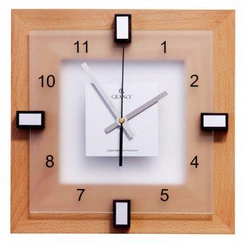 Часы настенные i-02  тик 310х310х40 мм
