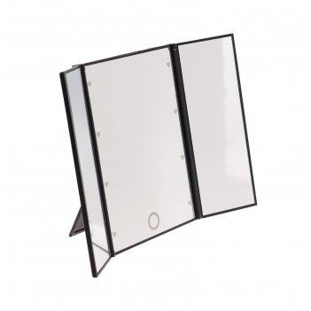 Зеркало с подсветкой gess-805p, 8 светодиодов, 1хcr2025 (в комплекте)