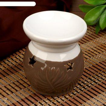 Аромалампа керамика пальмовый лист микс 9,5х8,5х8,5 см