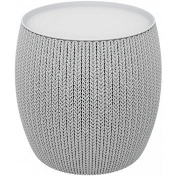 Стол-пуфик keter knit cozies светло-серый, садовая мебель