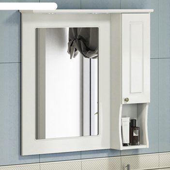 Зеркало-шкаф comforty палермо-80 белый