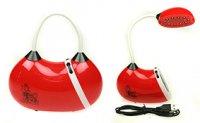 Лампа настольная сумочка led 13*6*13см, красная